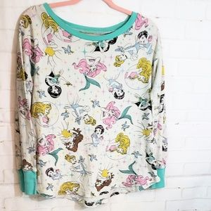 Disney Princesses thermal shirt long sleeve L